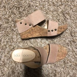 Sole society wedge NWOT
